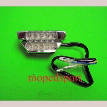Feu rouge à LED chrome